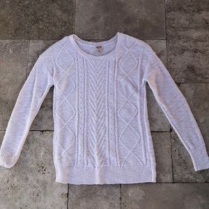 Mossimo Supply Co. White Pullover Sweater